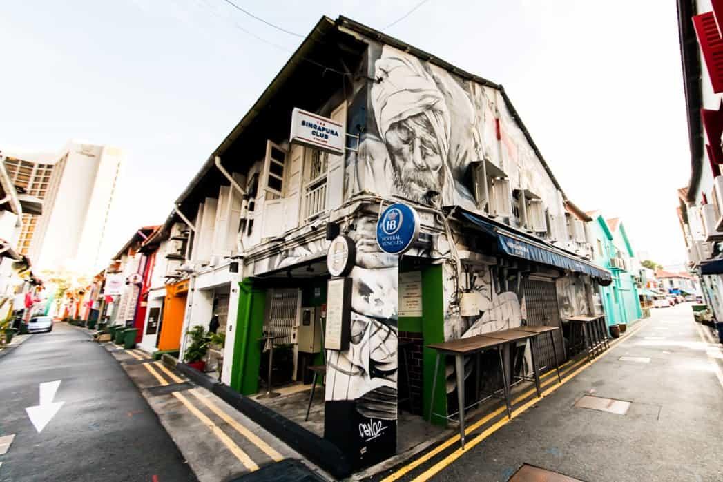 Wall Mural at Singapura Club